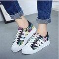 Женщины цветочные холст обувь женская Цветок случайные sapatenis esportivo тенис feminino chaussure femme zapatillas mujer