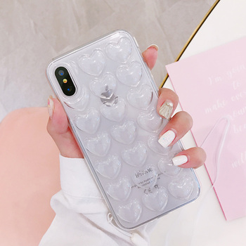 Heart Shape Hybrid Bumper Cover Case iPhone X Dual Layer Protection
