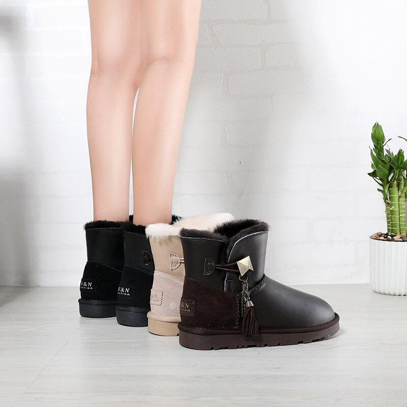 01f1cf97014a1b bleu Décoration Chaussures Femmes Chaud Avec Femelle De Métal Mode En  Jookrrix Fourrure noir marron Chaussure Cheville Hiver Dame Marque Beige  Bottes ...