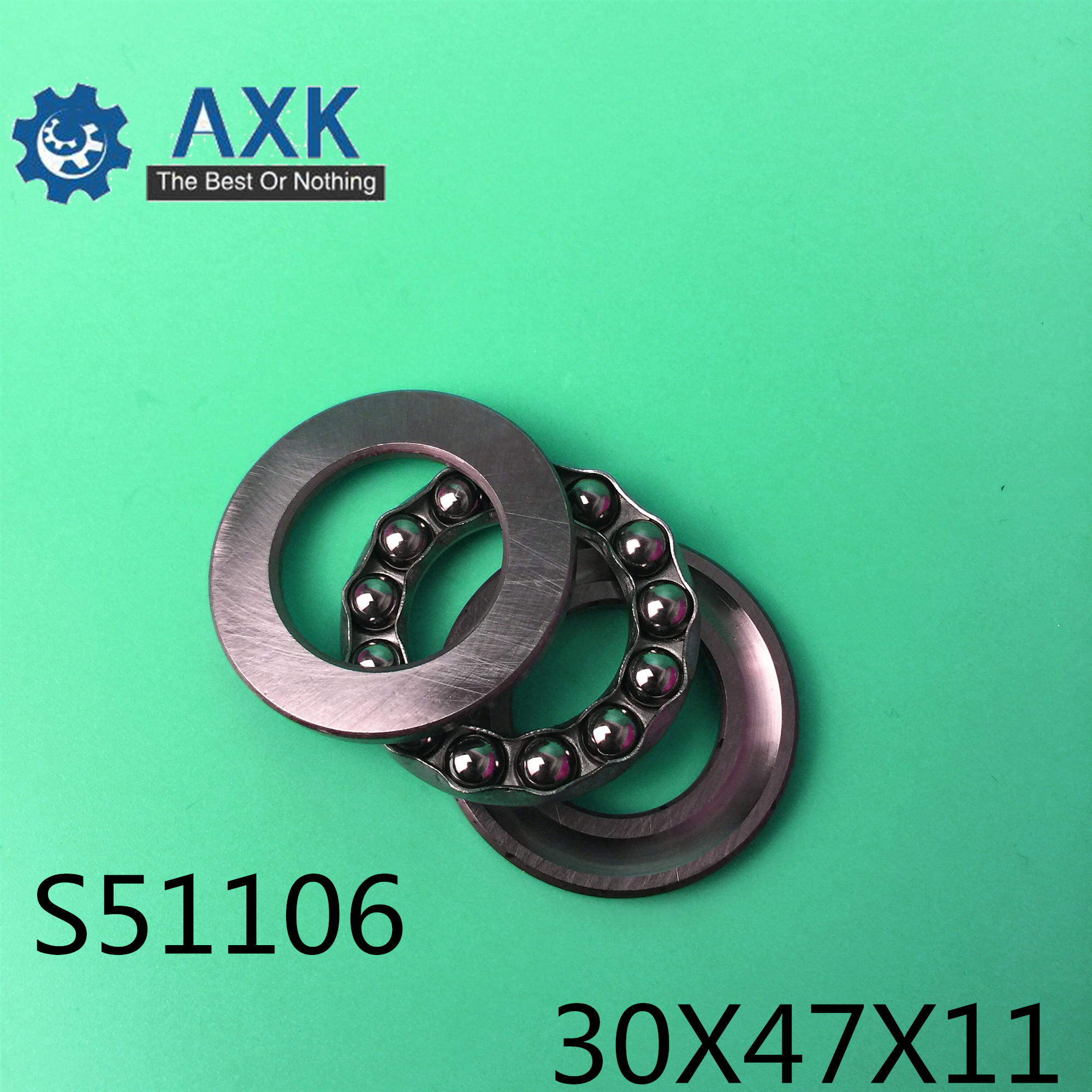 S51106 Bearing 30*47*11 mm ( 2PCS ) ABEC-1 Stainless Steel Thrust S 51106 Ball BearingsS51106 Bearing 30*47*11 mm ( 2PCS ) ABEC-1 Stainless Steel Thrust S 51106 Ball Bearings