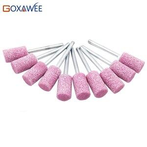 Image 2 - GOXAWEE 10PC Nhám Đá Điểm Máy Mài Điện Phụ Kiện Dremel Đánh Bóng Đầu Mài Bánh Xe Công Cụ Dụng Cụ Dremel Rotary