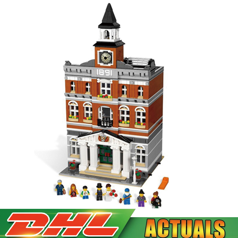 2859Pcs 2016 LEPIN 15003 Kid's Toys The town hall Model Building Kits Building Blocks Bricks Gift Compatible Legoings 10224