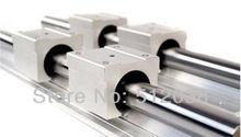 2 шт. SBR20-500mm Линейный Подшипник Rails + 4 шт. SBR20UU