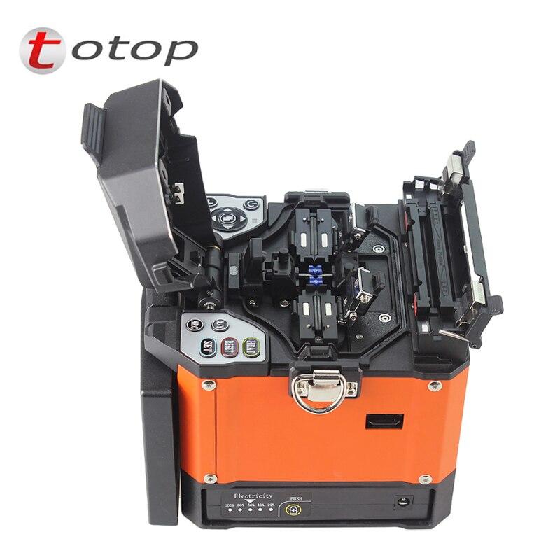 A-80S naranja máquina de Empalme automático de fusión de fibra óptica máquina de empalme de fibra óptica