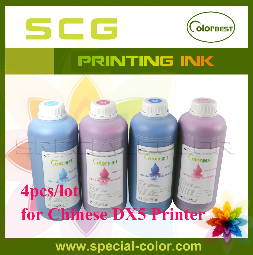 4pcs/lot Chinese DX5 Printer Eco Solvent Ink 1000ml for Epson DX4/DX5 Printhead hot sale inkjet printer machine 50meter 4 line 5mm 3mm solvent ink tube for infiniti pheaton sid roland mimaki mutoh