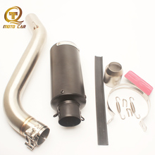 For Benelli 600GS 600 GS Carbon Full Exhaust System 51MM Muffler Mid Tube Connect DB Killer Silencer Pit Bike Escape Accessories