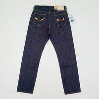 BOB DONG 23 унц.. флэш задние карманы мотоцикл стиль Мужские джинсы Selvage деним синий