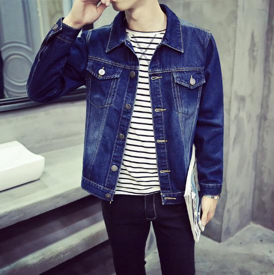 Mens Denim Jacket Men Plus Size 5XL Bomber Jacket Men High Quality Cowboy Solid Casual Slim Mens Jean Jacket Chaqueta Hombre