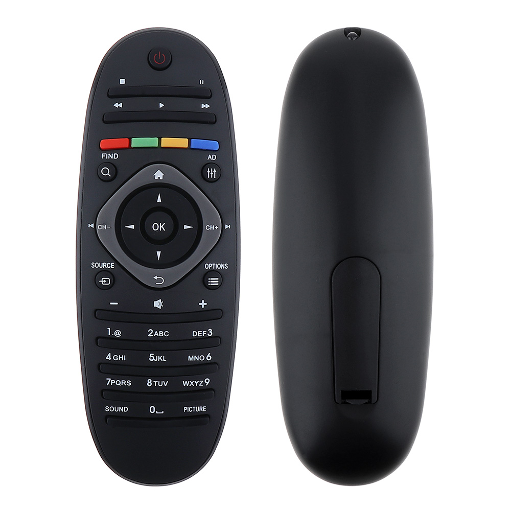 1PC Universal Philips TV Remote Control Smart Digital Replacement Remote Controller Support 2 x AAA Batteries for Philips TV/DVD