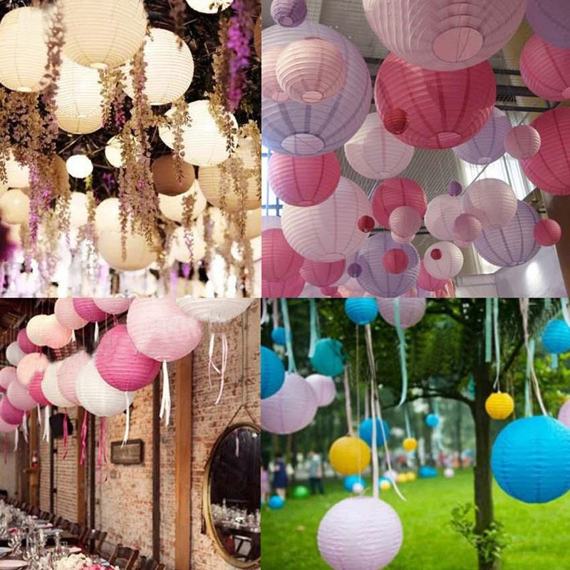 Detail Feedback Questions About Mulit Color Option 8 20cm Chinese Paper Lantern Round Lamp Wedding Decor Glim Festival Decoration Lampion Party