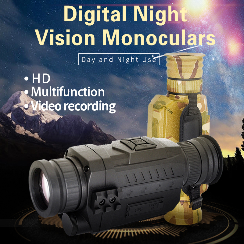 Digital Infrared Hunting Night Vision 200m Monocular Scope With Camera Vedio