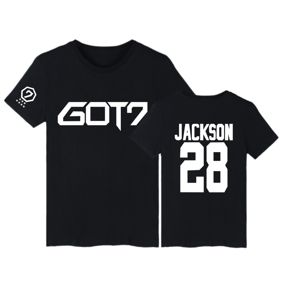 GOT7 Kpop BAMBAM TShirts JB Jackson Short Sleeve T-shirts with GOT 7 Kpop Hip Hop T Shirt Women in Tee Shirt Women 2016 image