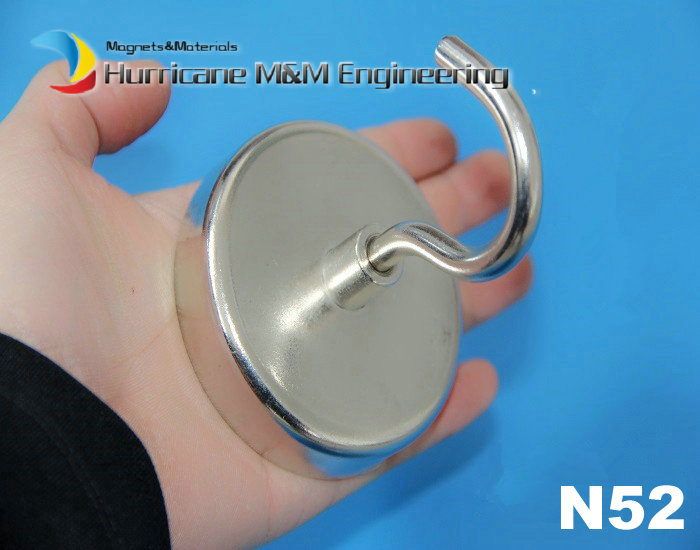 160kg Pulling Lifting Magnet N52 Dia 75x18 mm Stainless Steel Pot Hook Mounting Magnet Strong Neodymium Permanent Magnets