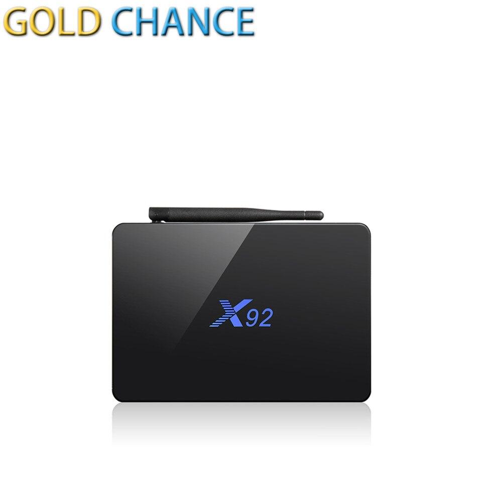 ФОТО Smart Box X92 Amlogic S912 Octa Core 3G 16G Android 6.0 Set-top Tv Box Kodi 16.1 2.4G/5.8G Wifi 4K H.265 BT4.0 Media Player