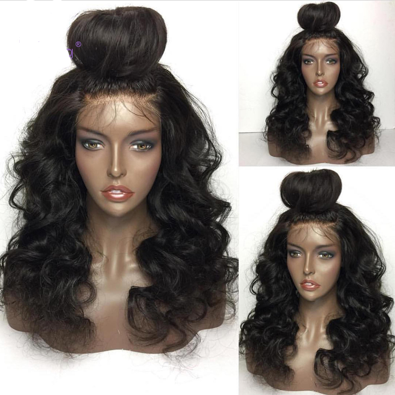 LUFFYHAIR Natural Wave Lace Front Wigs With Baby Hair Glueless Brazilian Wave 13x6 Pre Plucked Lace Front Wigs Remy Human Hair