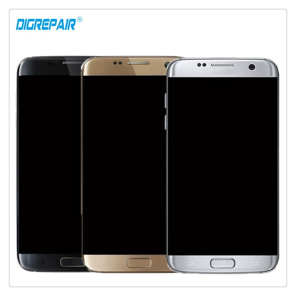 AAA Noir/Argent/Or Pour Samsung Galaxy S7 bord G935A G935T G935P G935V LCD Affichage Digitizer Écran Tactile assemblée Pièces + Cadre