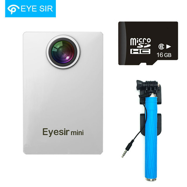 Eyesir Mini Camera 2K Max 300Mega with Wifi 800Amh Support Max 32G Micro SD Card+16G/32G Card and Blue Selfie Stick Gift