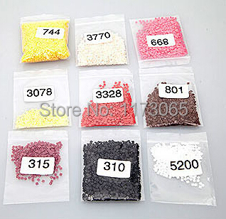 Needlework,DIY colorful resin square diamonds For diamond painting home decro factory direct sale by bag 50g