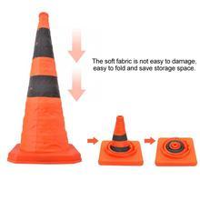 70 см Высокое качество дорожного движения складные дорожные конусы со светоотражающей полоской безопасности Горячая