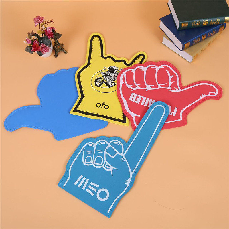 Custom Design Promotion LOW MOQ EVA Foam Cheering Gloves Cheering Hands Foam Fingers