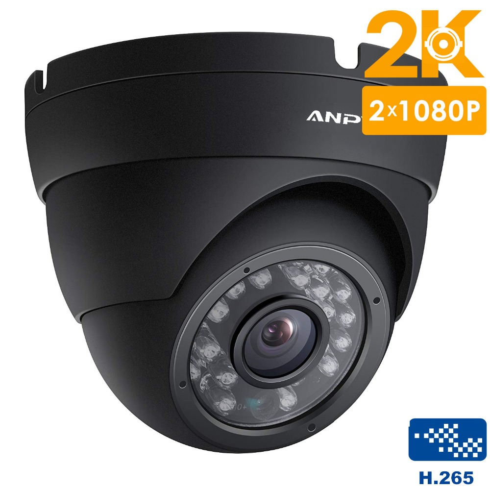 Anpviz 2K Outdoor POE CCTV Camera IP Onvif 4MP PoE Security IP Camera outdoor Night vision H.265 P2P ( Black )-in Surveillance Cameras from Security & Protection