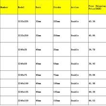SI Воздушный Цилиндр Диаметр 32-40 мм Ход 25-250 мм Двойного Действия Нет Тяги обратитесь к Форме в Описании