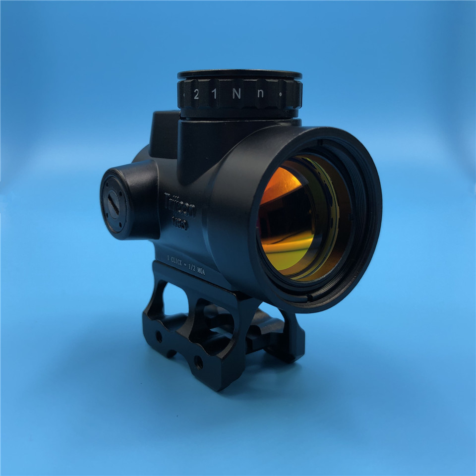 Tactical Optics Trijicon MRO Style Red Dot Sight Riflescope with Low Mount High Mount Hunting Scope