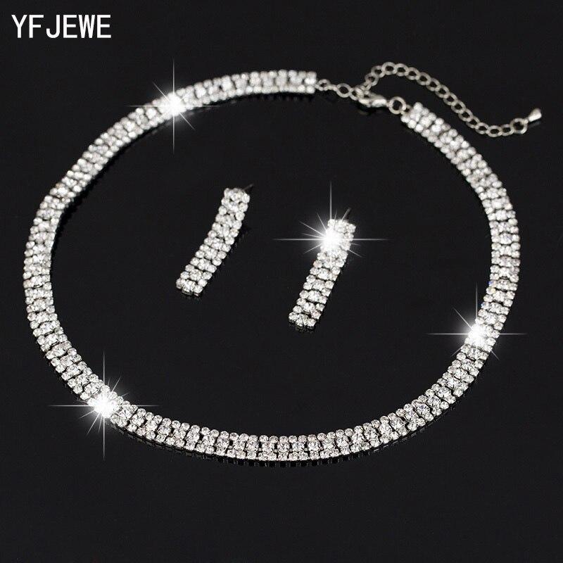 2015 nupcial do casamento de prata banhado cristal strass colar de jóias brincos Setsafrican contas set jóias N174