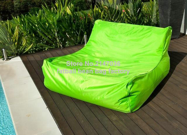 Green Water Float Bean Bag Furniture,Double Seat Big Boy Gaming / Theater /  Cinema Room Outdoor Bean Bag Sofa Chairs In Garden Sofas From Furniture On  ...