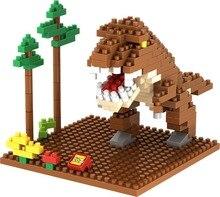 LOZ 9485 Jurassic Park Tyrannosaurus Rex Educational Kids Diamond Bricks Minifigures Building Block Compatible with Legoe