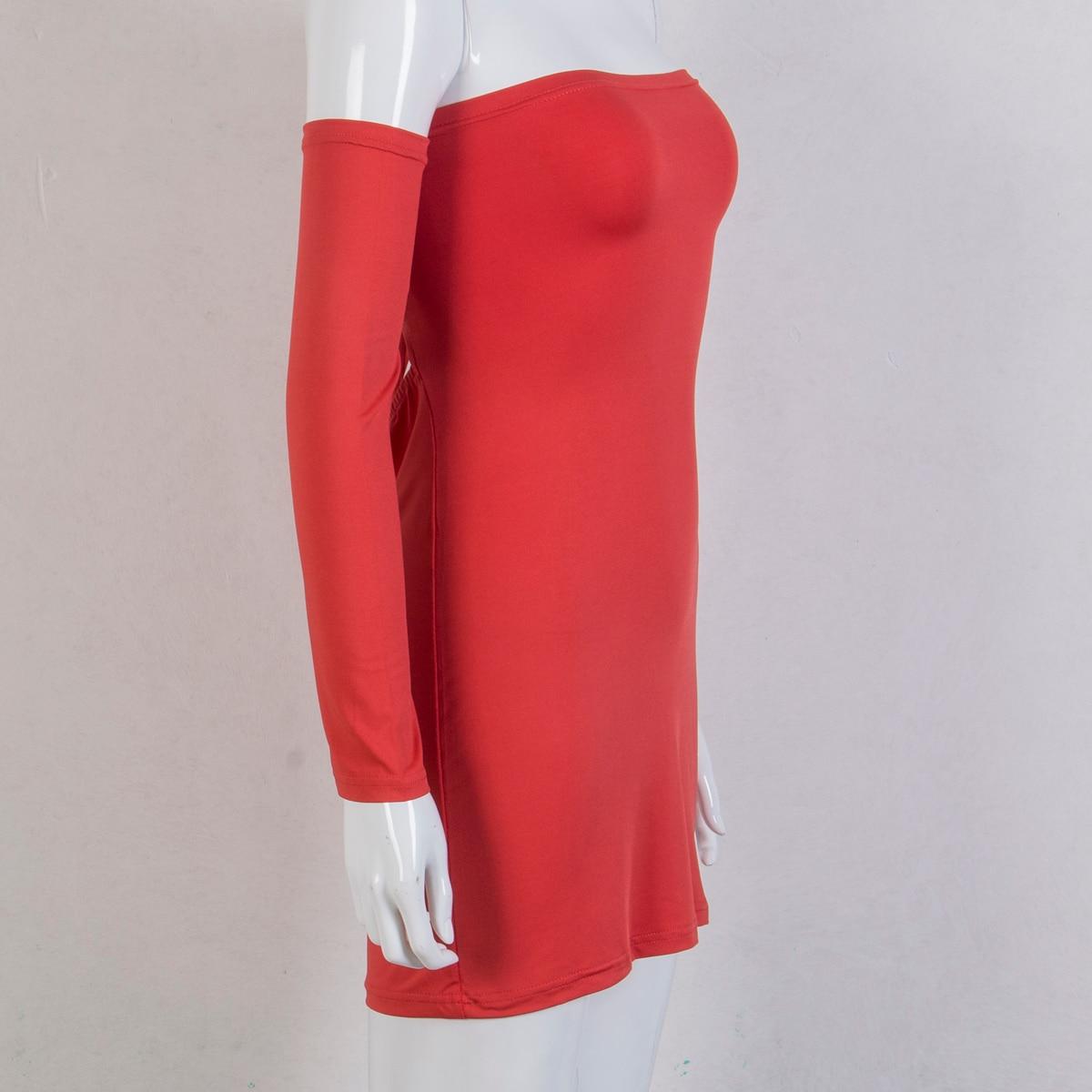 Hirigin Women's Summer Long Sleeve Slash Neck Hollow Bandage Bodycon Night Club Party Dress