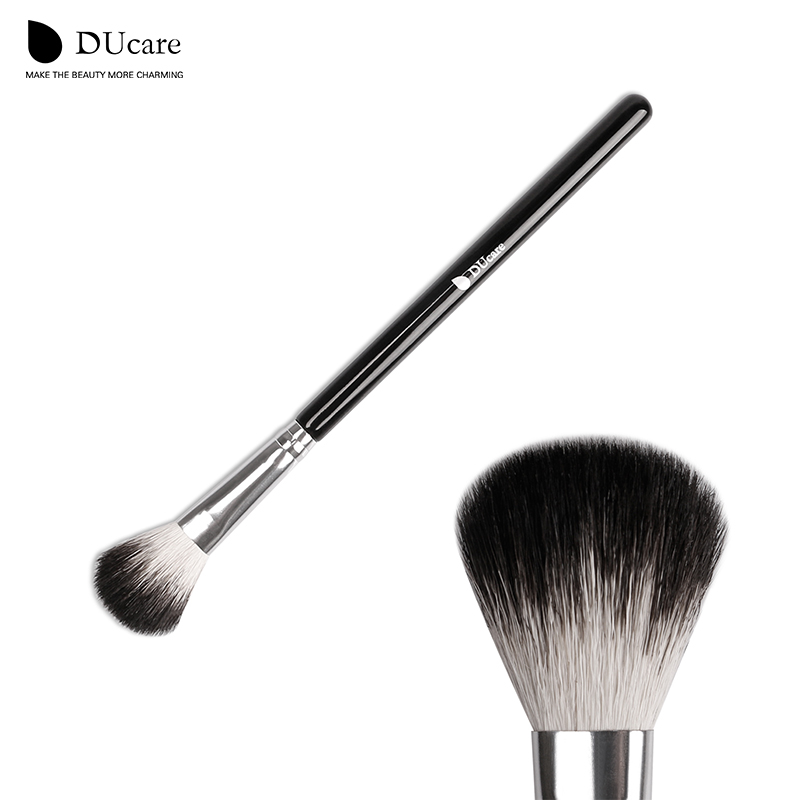 DUcare multifunctionele geit haar make-up borstel poeder mengen uniform borstel hoogtepunt make-up borstel gratis verzending