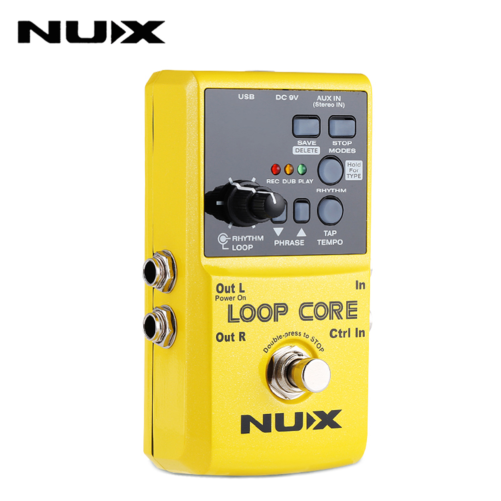 NUX Loop Core Guitar Effect Pedal Looper 6 Hours Recording Durable Electric Effects Pedal Compact Powerful Guitar Accessories hand made loop electric guitar effect pedal looper true bypass 3 looper switcher guitar pedal hr 1