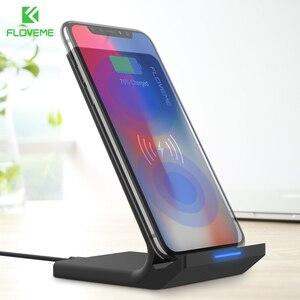 Image 5 - FLOVEME 5V/2A bezprzewodowa ładowarka do Samsung Galaxy S8 S7 S10 uwaga 8 9 Qi bezprzewodowa stacja ładująca do iPhone12 11MAX ładowarka USB