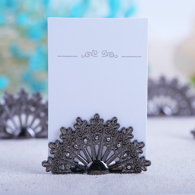 180pcslotnew Wedding Favors Antique Fan Place Card Holders Name