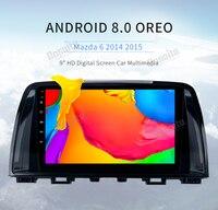 Android 8,0 автомобильный радиоприемник для Mazda 6 Atenza 2013 2014 2015 автомобильный мультимедийный плеер gps с восьмиядерным процессором 4 Гб Ram + 32 ГБ Rom по