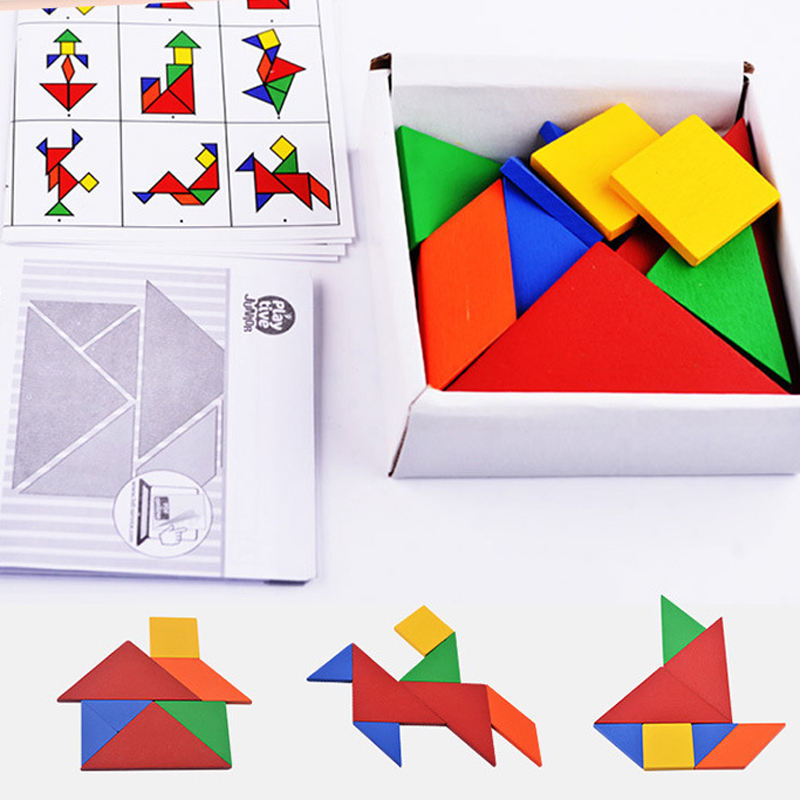 32 piece Color changed DIY jigsaw puzzle jigsaw toys Wooden children educational toys baby play tive junior tangram learning set children s early childhood educational toys the bear change clothes play toys creative wooden jigsaw puzzle girls toys