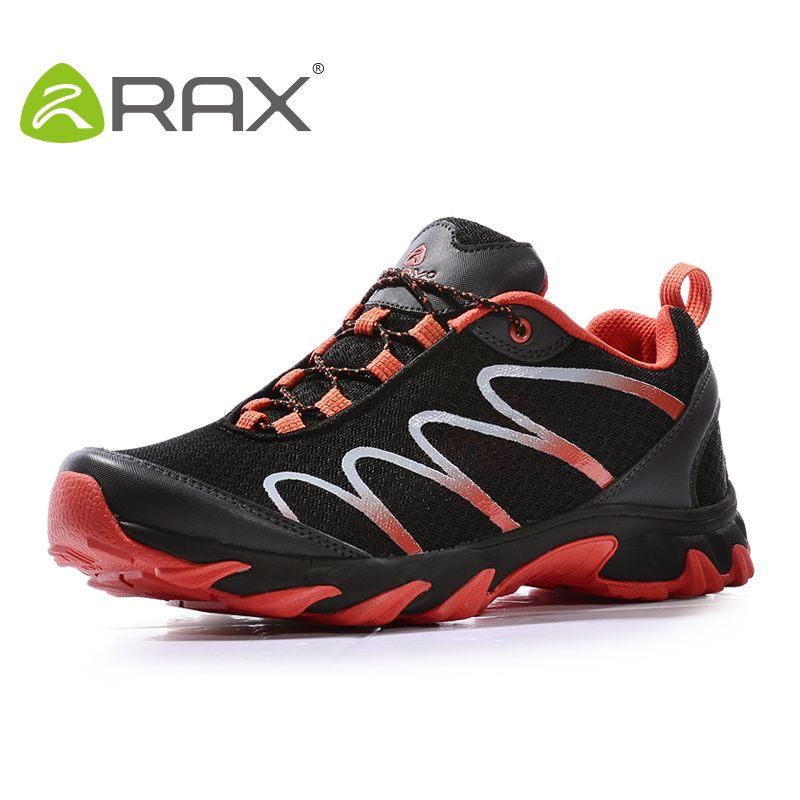RAX Men's Trail Running Shoes Breathable Lightweight Outdoor Sports Shoes Mesh Running Athletic Shoes mesh letter pattern athletic shoes