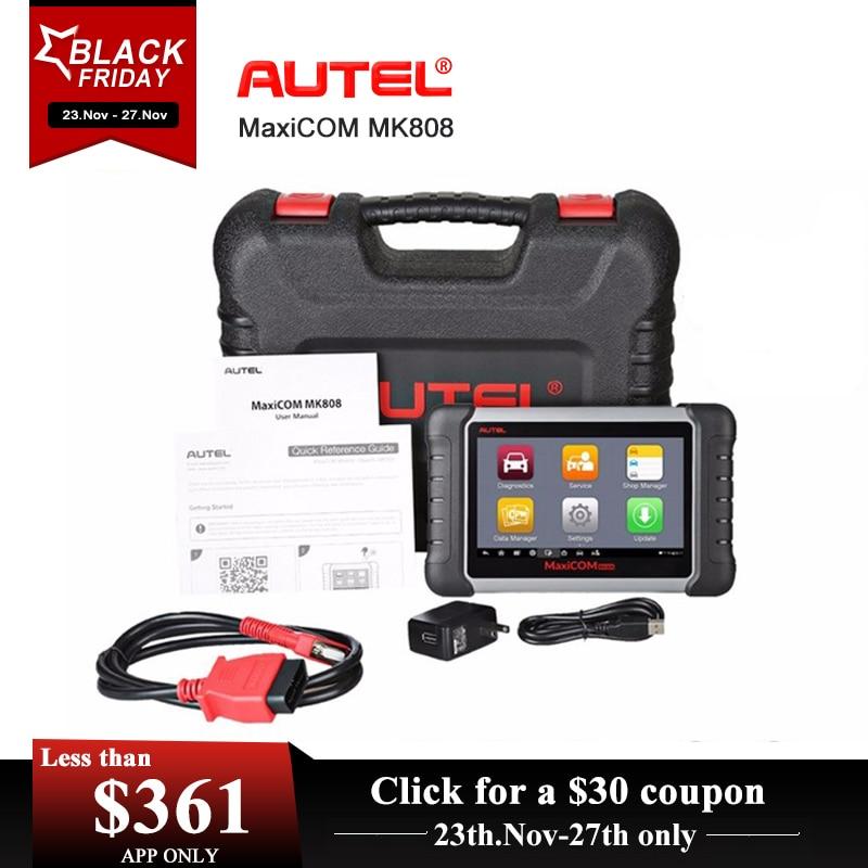Autel MaxiCOM MK808 MX808 Automotive Scanner OBD2 OBDII Auto Diagnostica Scanner Universale Strumento di Full Sistemi di Auto Lettore di Codice ABS