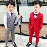 Kids Wedding Clothing Suit Coat+Vest+Pants Costume Suit For Baby Children Kids Gentleman Wedding Formal Suits Boys Party Wear