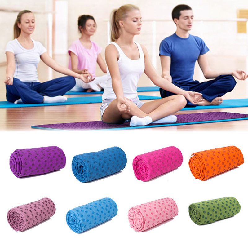 Thickened Sport Fitness Exercise Yoga Blanket 183x63cm Can Absorb Sweat Non-slip Anti-bacterial Sports Towel Mat Color Optional