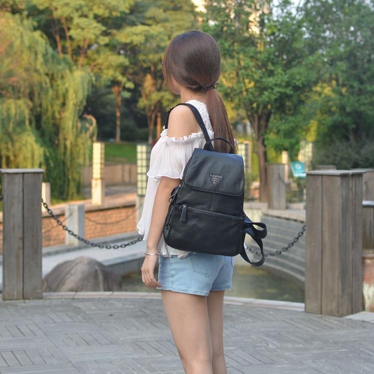 WANU Fashion Student School Bag Korean College Backpack Girl s Casual Leather Women Bag Vintage Bags
