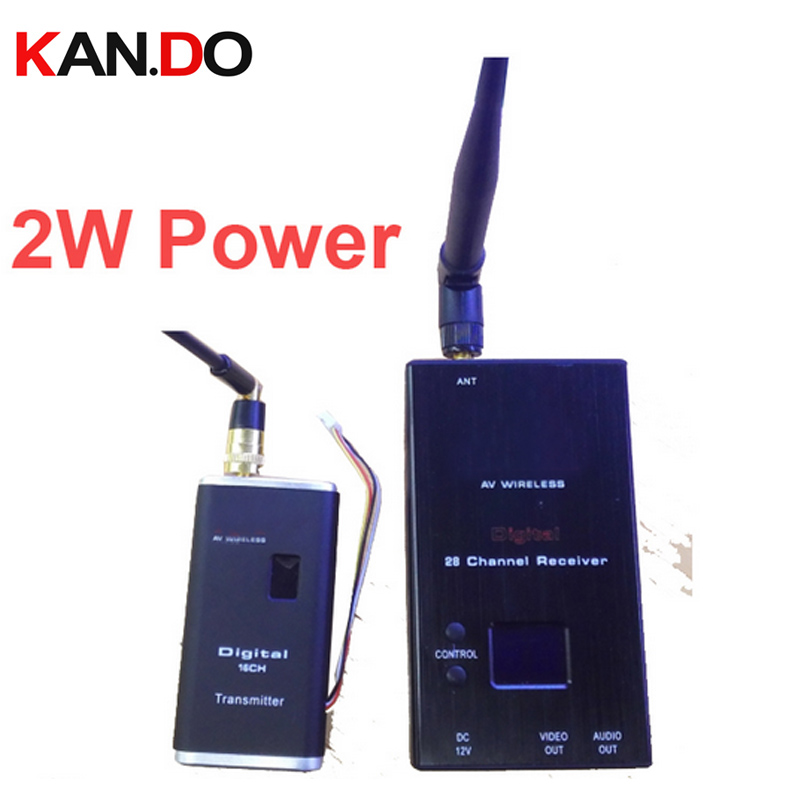 2W 16ch drone transmitter wrieless transceiver 0.9-1.3Ghz Wireless AV transceiver,FPV Video Audio Transmitter Receiver AV sender image