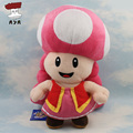 Super Mario Bros Plush Toys 11'' 27cm Mushroom Toadette Soft Stuffed Plush Doll Baby Toy Animal Cartoon Gift for Children