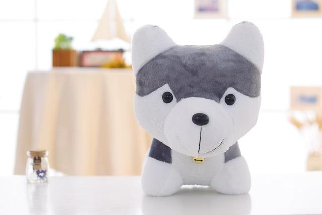 on sale 18 CMKawaii Simulation Husky Dog Plush baby Toy Gift For Kids Stuffed Plush Toy New Arrival