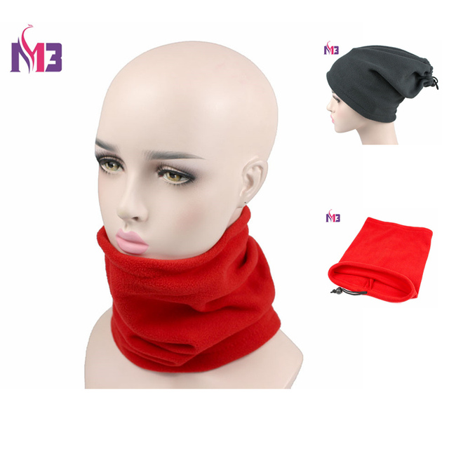 a9be6b7a77807 New Winter Women Polar Fleece Neck Warmer Thermal Snood Ring Scarf Hat Ski  Wear Snowboarding Unisex