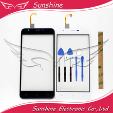 цены Black & White In Stock 5.5 Inch 100%Tested Touch Screen For Oukitel U7 Max Touch Screen Panel With Tools +3M Sticker
