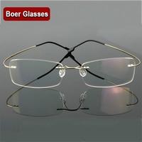 c8660893a06 Hingeless Rimless Flexible Eyeglasses Unisex Frame Prescription Glasses 9  Colors Metal Ultra light