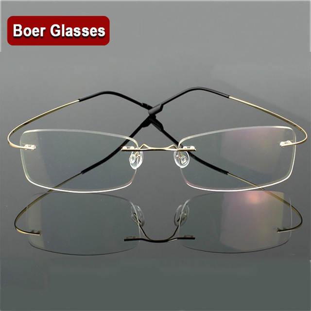 78f4ee2b1d Hingeless Rimless Flexible Eyeglasses Unisex Frame Prescription Glasses 9  Colors Metal Ultra light. placeholder ...