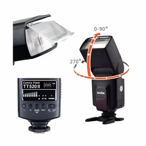 Image 3 - Godox TT520 II Flash TT520II with Build in 433MHz Wireless Signal +Color Filter Kit for Canon Nikon Pentax Olympus DSLR Cameras
